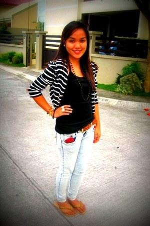 Pink Manila blazer - jeans - belt