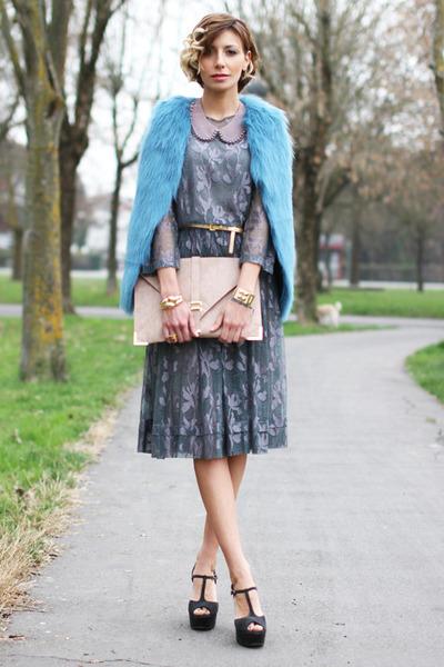green Soho de luxe dress - light pink asos bag - dark green Lautre Chose sandals