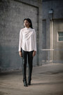 Thakoon-boots-helmut-lang-leggings-leith-shirt
