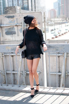black Yesstyle sweater - black Alexander Wang shoes - black Forever 21 shorts