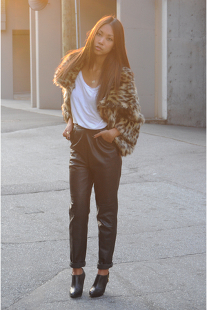 urban behavior coat - American Apparel t-shirt - vintage pants - Zara boots