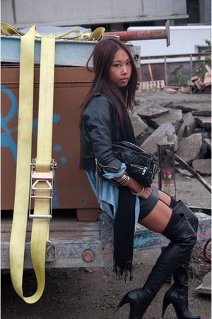 vintage jacket - Alexander Wang purse - Zara shirt - Forever 21 skirt - Zara boo