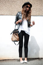 white American Apparel shirt - white la dama shoes - black J Brand jeans