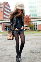 black vintage from Ebay jacket - black sam edelman boots