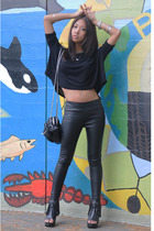 wilfred t-shirt - Silence&Noise pants - Forever21 boots - Alexander Wang purse