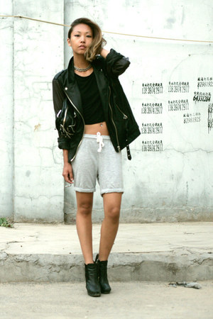 sam edelman boots - Yesstyle jacket - Alexander Wang bag - Aritzia shorts