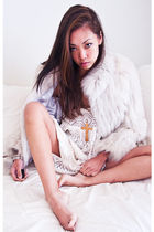 white vintage jacket - white vintage dress
