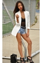 Zara blazer - American Apparel top - Talula belt - Zara shoes - DKNY purse - Lev