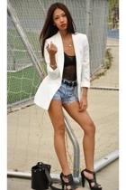 Zara blazer - American Apparel top - Talula belt - Zara shoes - DKNY purse - Lev
