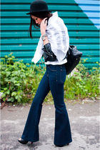 black Marc Jacobs bag - black Steve Madden shoes - blue J Brand jeans