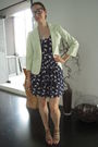Blue-zara-dress-white-target-blazer-beige-blanco-shoes-black-jesus-del-poz