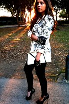 Zara gloves - H & M leggings - Vi ntage blazer - vintage bag - v intAge top