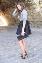black v intAge skirt - heather gray Mango sweater - black v intAge bag