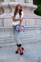 pull&bear jeans - asos bag - vintage blouse - Zara sandals