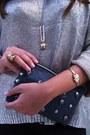 Zara-sweater-zara-bag-zara-shorts-b-ershka-heels-vintage-watch