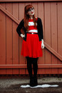 White-striped-forever-21-dress-red-francescas-collections-skirt