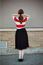Black-thrifted-shoes-red-forever-21-dress-black-midi-forever-21-skirt