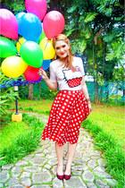 red gingham skirt asos skirt - white Forever21 shirt