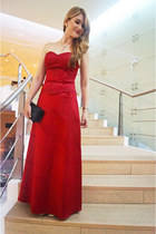 red formal dress dress