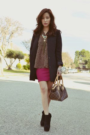 Mont Affair skirt - MYHOTSHOES boots - Forever 21 blouse