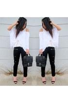 black Forever 21 jeans - black coach bag - black Zara heels