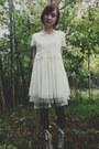 Tan-poetic-license-boots-ivory-lace-mesh-tj-maxx-dress