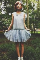 periwinkle drop-waist mesh free people dress