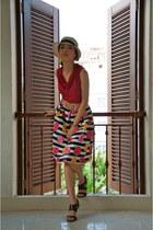 aeeshow skirt - Bata heels - banana republic top