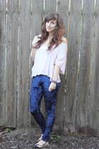 romwe leggings - H&M shirt - Charlotte Russe flats
