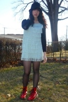 H&M dress - doc martens boots - Urban Outfitters hat