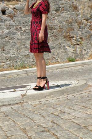 Zara heels - H&M dress