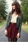 Ivory-sequin-collar-blouse-dark-green-black-sheep-clothing-jacket