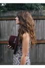 Off-white-vintage-dress-maroon-hat-black-clogs