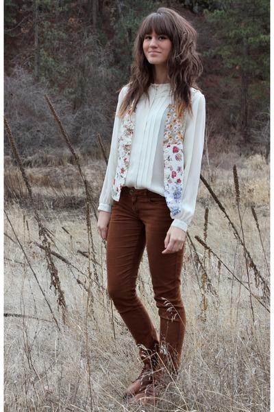 dark brown corduroy Bella Dahl pants