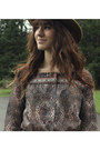 Camel-vintage-hat-tan-free-people-boots-puce-vintage-dress