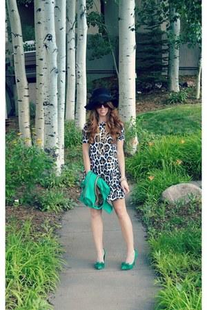 kelly green JCPenney jacket - swing dress asos dress