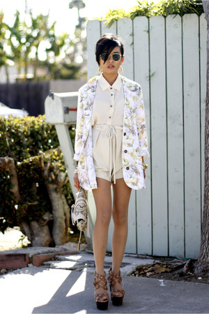 insighT 51 blazer - Remi &amp; Emmy bag - Shona Joy shorts - Jimmy Choo pumps
