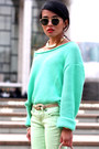 Mint-sweater-acne-sweater-spearmint-denim-free-people-jeans-steve-madden-bag