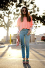 Blue-jeans-volcom-jeans-camille-zarsky-bag-henry-holland-sunglasses