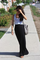 Urban Outfitters top - H&M skirt - banana republic purse - tory burch shoes - Pr