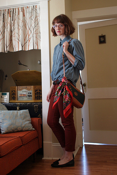 Old Navy shoes - thrifted shirt - Dooney &amp; Bourke bag - Old Navy pants