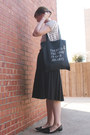Black-fieldguided-bag-black-skirt-polka-dot-joe-fresh-top-old-navy-flats