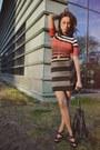 Knit-karen-millen-dress-fringe-h-m-bag-miu-miu-heels