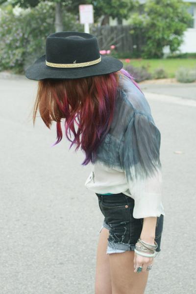 dip dye CRASH & BURN blouse - dip dye CRASH & BURN blouse