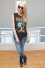 Black-studded-boots-steve-madden-shoes-light-blue-gap-jegging-gap-jeans