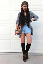 dark gray bustier top No Boundaries top - heather gray anorak Wet Seal jacket