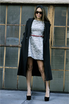 Zara dress - Jil Sander coat - black suede Theyskens Theory pumps