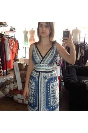 sky blue seashell Philosophy Di Alberta Ferretti dress