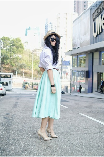 aquamarine mint full skirt asos skirt - white Primark shirt