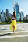 Yellow-hi-low-imiko-dress-black-mango-sandals